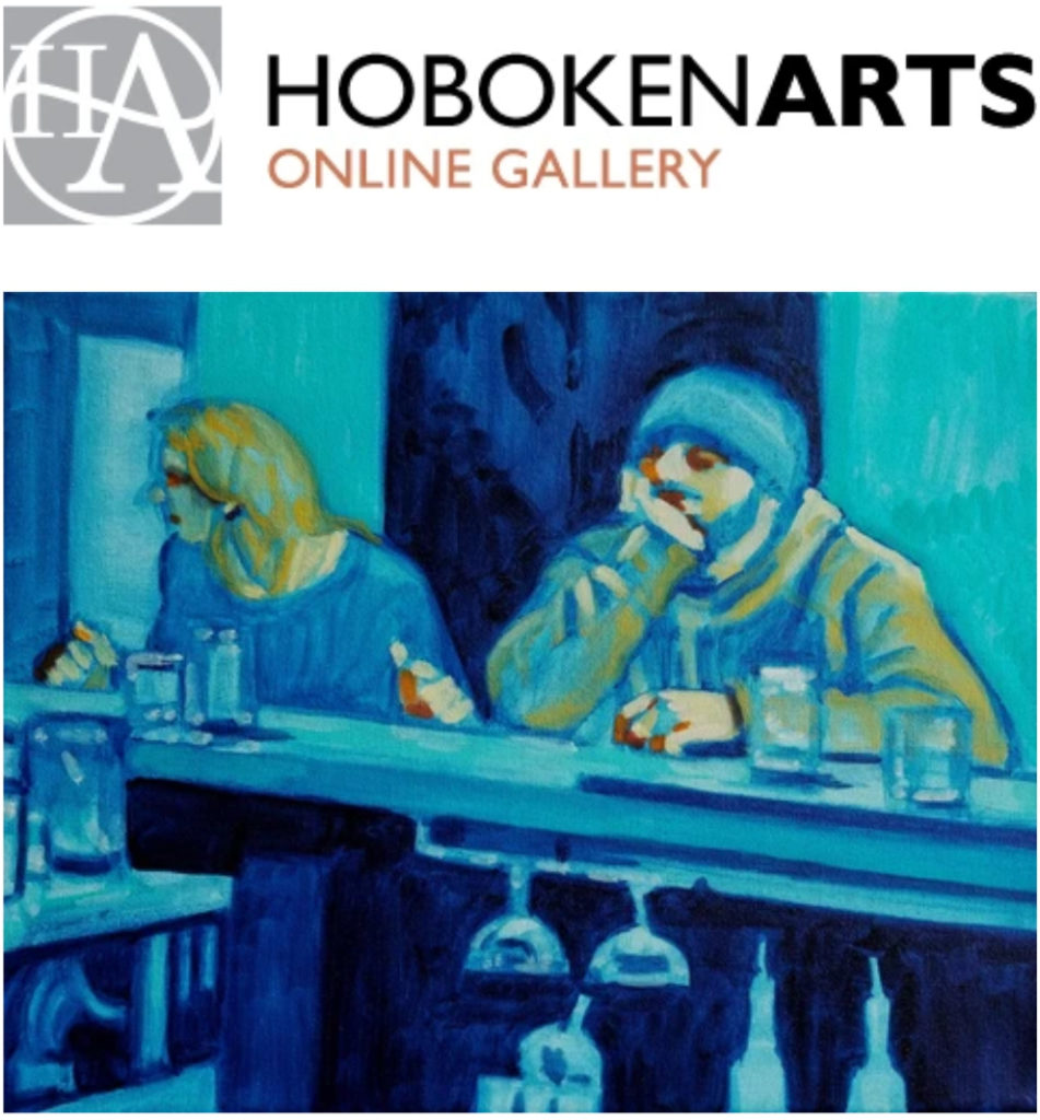 Painting by Frank Silva on view at Hoboken Arts Online Gallery